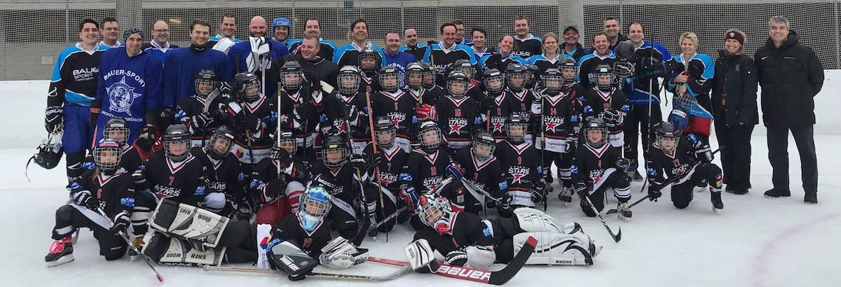 Eishockey Plauschmatch Bauer Sport organisiert